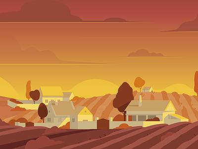 Grape Fields farm grape hills landscape illustration landscape environment art environment scenery styleframe sek sekond drawing ai vector illustrator illustration