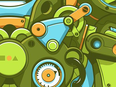 〇□△ - Geobots teasers / Robot details bot mecha sek art robotics illustrator design artwork robot vector ai character illustration sekond