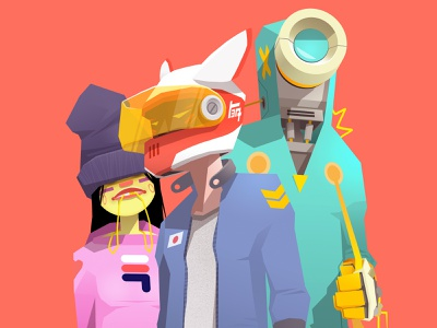 Shakotan Kids concept art characterdesign characters helmet pilot robotics comics cartoon art character design drawing artwork robot vector illustrator character illustration sekond