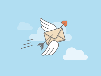 How to successfully get started with email marketing wings letter love amor amore heart envelope sky podcast livechat