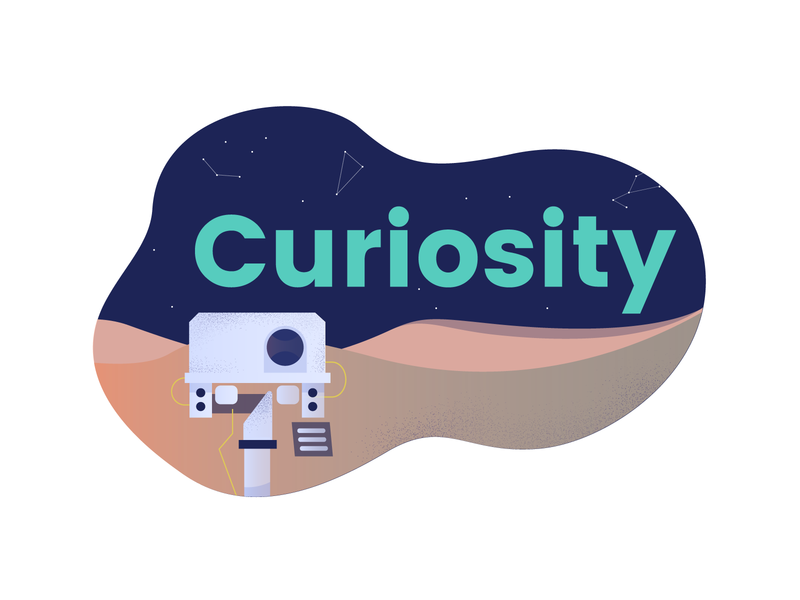 Curiosity Sticker curiosity rover sticker mission mars office conference room warroom livechat space space mission wall-e curiosity