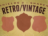 Free Vintage shapes - Shields 2