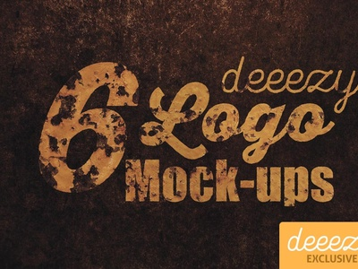6 Photorealistic Logo Mock-ups logo template digitalart photography mockup