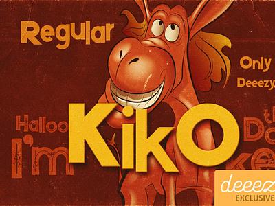 Kiko Regular Font - FREEBIE comicfont cartoonfont font freefont typography
