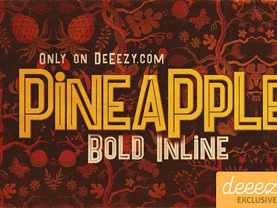Pineapple Bold Inline Font digitalart comicfont font freefont typography