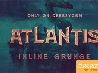 Atlantis Inline Grunge Font