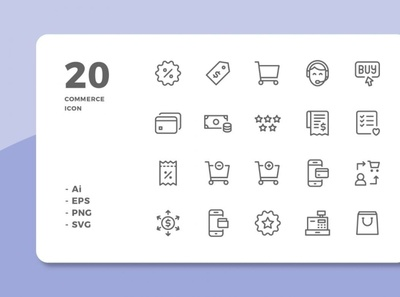 60 Commerce Icons (3 Styles)