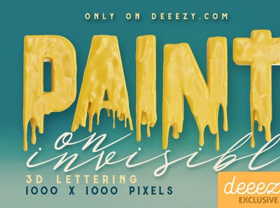 Painting On Invisible Free 3D Lettering - FREEBIE