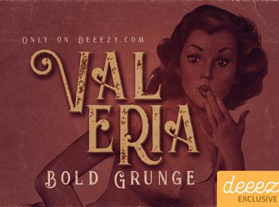 Valeria Bold Grunge Font - FREEBIE