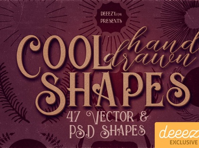47 Hand Drawn Shapes - FREEBIE