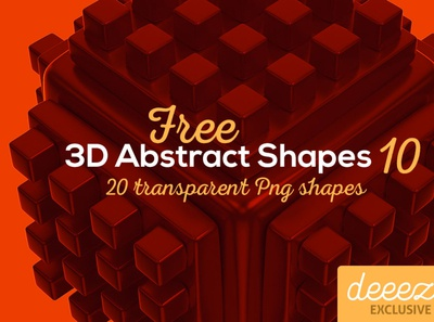 3D Abstract Shapes 10 - FREEBIE abstract digitalart 3dshapes 3d