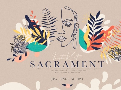 Sacrament Insta Kit digitalart elements shapes abstract branding