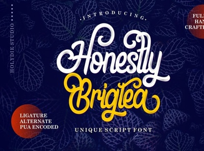 Honestly Brigtea Font scriptfont handwrittenfont calligraphy font typography