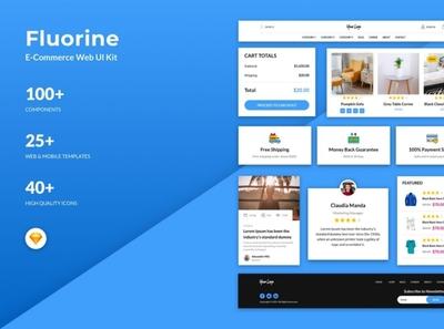 Fluorine - eCommerce Responsive Web UI Kit for Sketch digitalart webtemplate template sketch
