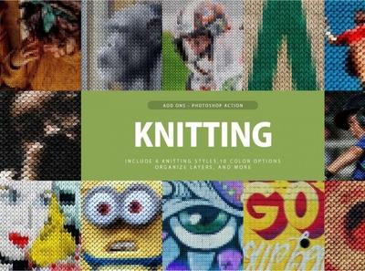Knitting Photoshop Action digitalart knitting photoshopaction effect photoshop