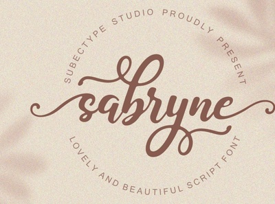 Sabryne Script Font digitalart handwrittenfont font calligraphy typography