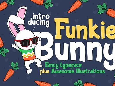 Funky Bunny Display Font digitalart cartoonfont comicfont font typography