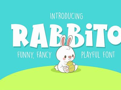Rabbito Display Font digitalart cartoonfont fancyfont comicfont typography