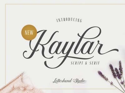 Kaylar Font Duo scriptfont handwrittenfont calligraphy font typography