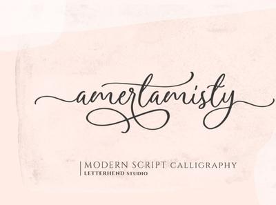 Amerta Misty handwrittenfont calligraphy digitalart font typography