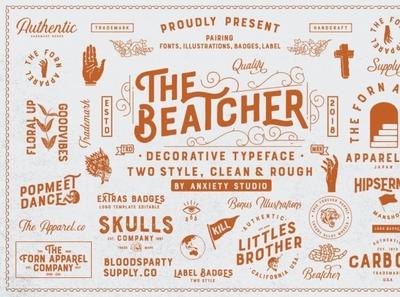 The Beatcher Typeface (Extras) digitalart handwritten sansserif font typography