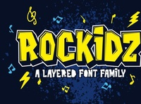 Rockidz - Layered Display Font digitalart graffiti font typography