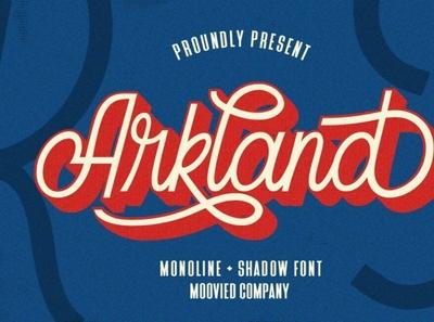 Arkland Monoline + Shadow vintagefont retrofont handwrittenfont font typography