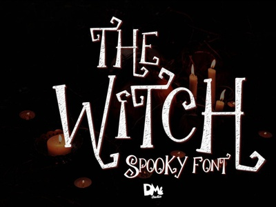 The Witch - Spooky Font digitalart scaryfont comicfont font typography