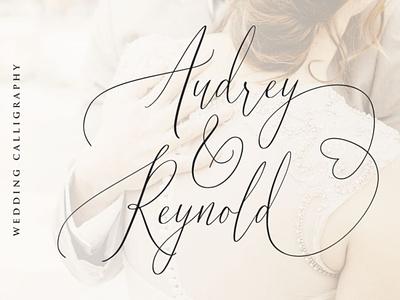 Audrey & Reynold - Luxury Script calligraphy handwrittenfont font typography