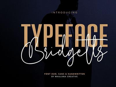 Bridgetts Typeface Free Sans Serif digitalart brushfont font typography