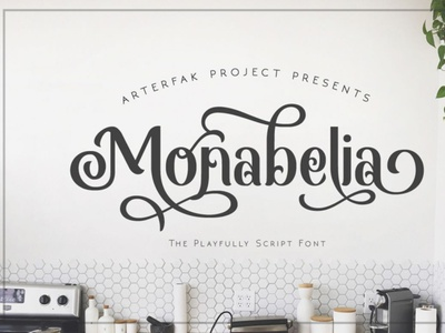 Monabelia handwrittenfont brushfont calligraphy font typography