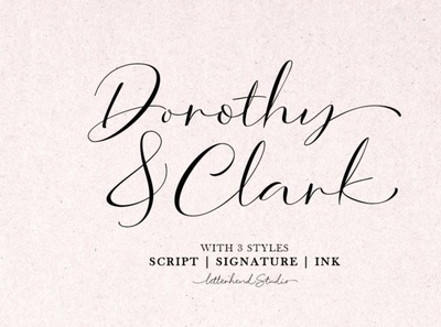 Dorothy Clark Script inkfont scriptfont handwrittenfont font typography