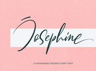 Josephine | Fashionable Script Font handwrittenfont scriptfont font typography