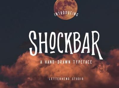 Shockbar - Hand Drawn Typeface digitalart font horrorfont scaryfont typography