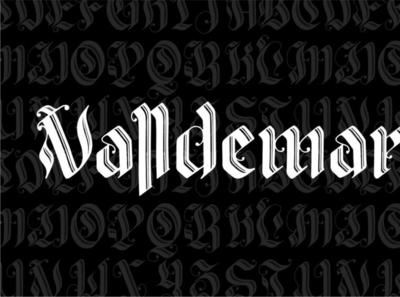 Valldemar digitalart font blackletter typography