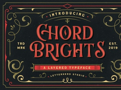 Chord Brights - A Layered Typeface vintagefont retrofont font typography