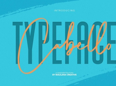 Cabello Handwritten Sans Font sansserif digitalart font typography