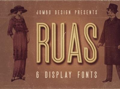 Ruas - Vintage Style Font seriffont vintagefont font typography