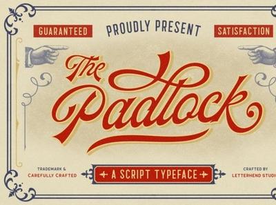 The Padlock - A Vintage Script digitalart font vintagefont typography