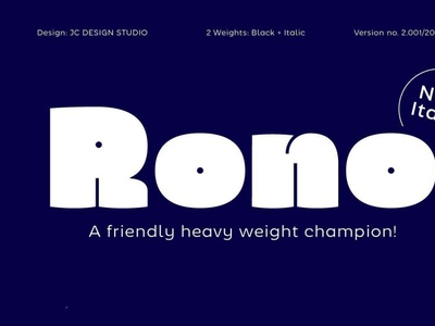 Rono digitalart comicfont font typography