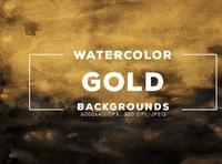 30 Gold Watercolor Backgrounds backgrounds watercolor digitalart