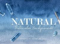 Natural Ombre Watercolor Backgrounds bundle backgrounds watercolor digitalart