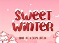 Sweet Winter - Display Font typeface digitalart displayfont font typography
