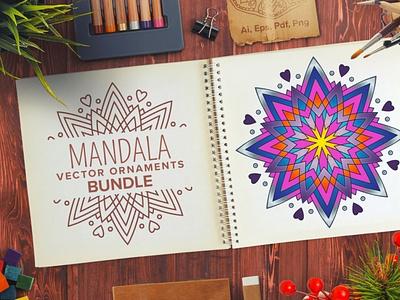 Mandala Vector Ornaments Bundle ornaments ornamentals mandala digitalart vector