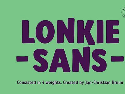 Lonkie comicfont font typography digitalart