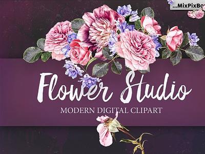 Flower Studio Clipart ornamentals ornaments flowers digitalart