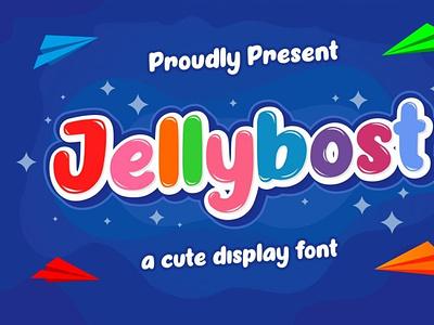 Jellybost comicfont cartoonfont font displayfont typography