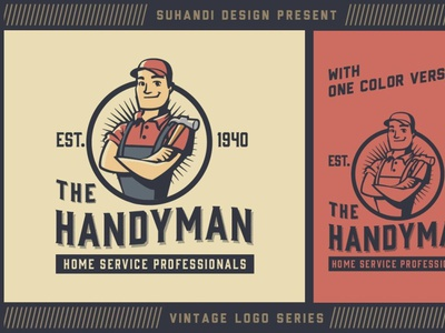 Vintage Home Service Logo digitalart corporateidentity logodesign logo