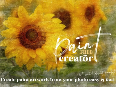 Free Paint Art Creator acrylic paint acrylic painting paint creator art creator photoshop template photoshop free template free graphics freebie free