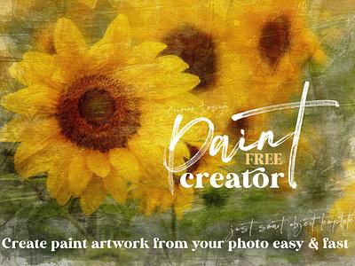 Free Paint Art Creator acrylic paint acrylic painting paint creator art creator photoshop template photoshop free template free graphics freebie free